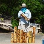 東峰村の竹灯篭